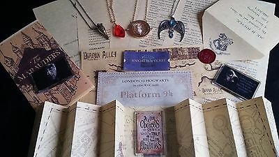 Personalised Harry Potter Hogwarts Acceptance Letter Set Marauders Map Necklace
