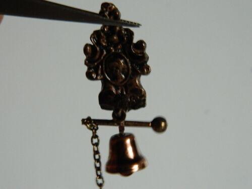 escala 1//12th Casa de Muñecas Metal Campana de casa con cadena M3.20