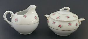 Ucagco-China-Sugar-and-Creamer-Set-Made-in-Occupied-Japan-Apple-Floral-Gold-Trim