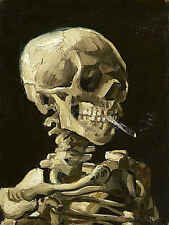 Vincent Van Gogh Skull with Burning Cigarette Museum Print Poster 18x24