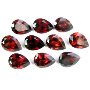 Wholesale-Lot-of-9x7mm-Pear-Facet-Mozambique-Garnet-Loose-Calibrated-Gemstone