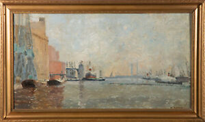 Mary Cheffins - 1970 Oil, Victoria Dock
