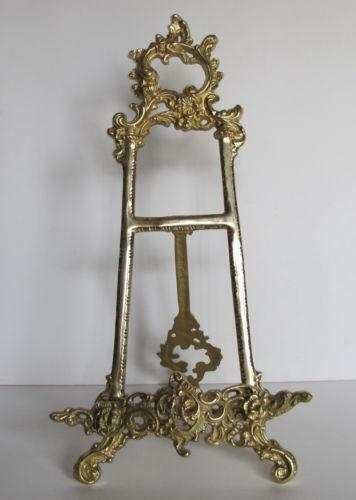 Periods/Styles Antiques Solid Brass Decorative Brass Easel 12 ~ Picture Stand New