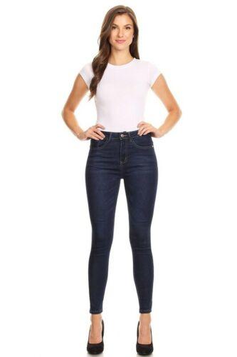 Juniors/' Skinny Jeans Celebrity High Rise Full Length Jean Dark Denim