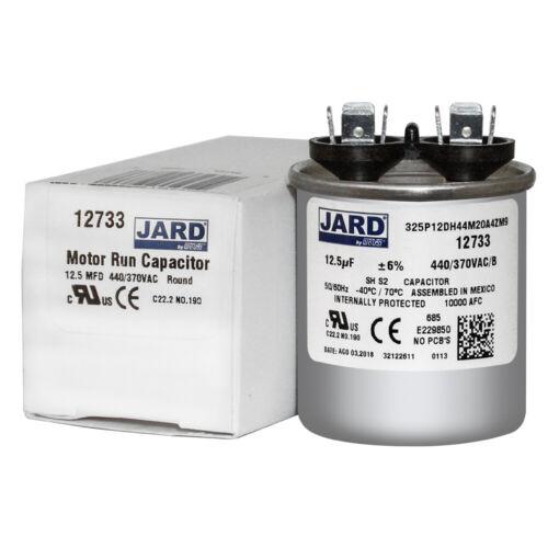 12.5 uf MFD 370 440 VAC ROUND Capacitor 12733 Replaces C312R C412R 97F5067