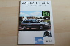 81546) Opel Zafira 1.6 CNG Prospekt 05/2001