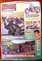 Moto Journal 15/6/1995; Interview Tortelli/ Honda 500 Shadow, Suzu 600 Intruder
