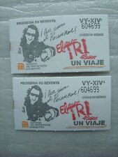 EL TRI MEXICO METRO BOLETO 48 AÑOS COMMEMORATIVE SUBWAY TICKET SET OF 2 ROCK