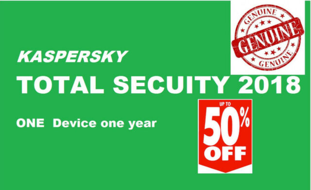 Kaspersky Total Security 2018 | 1 dispositivo | 1 anno | PC/MAC/ANDROID | Scarica