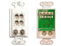 Channel Plus Wpw-pc 10-pack Telephone / Coax Tap Wall Plate - White