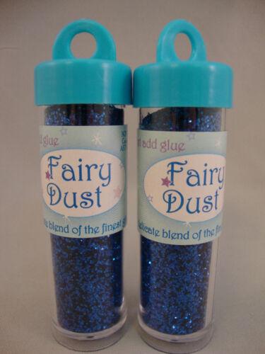 FAIRY DUST LOT OF 2 SHIMMERING ROYAL BLUE METALLIC GLITTER