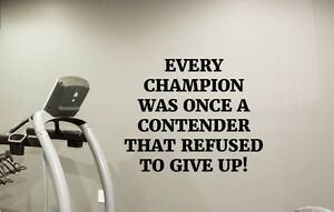 Champion Quotes | Details About Gym Wall Art Work Champion Quotes Fitness Poster Wall Vinyl Decals Decor 76fit