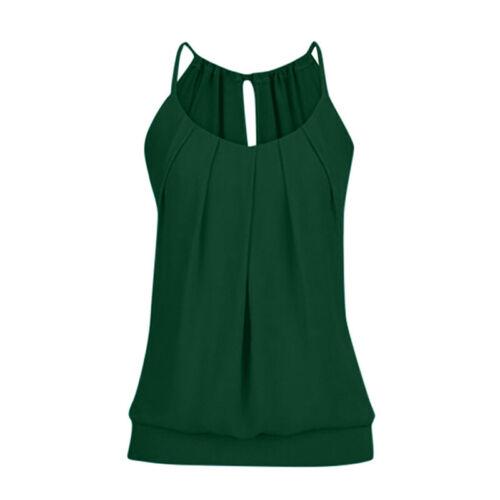 Damen Ärmellos T-Shirt Bluse Tanktop Weste Sommer Freizeit Tunika Oberteil Tops