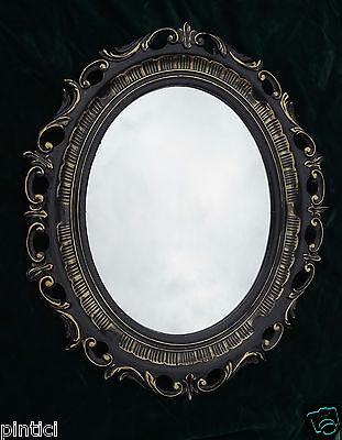 Wandspiegel Spiegel SILBER OVAL ANTIK BAROCK Badspiegel 58 X 68  Neu 41 8