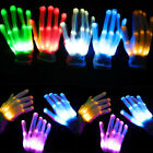 LED Flashing Finger Light Up Dancing Gloves Lighting for Rave Halloween Props