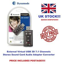 Dynamode USB-SOUNDCARD7 USB 2.0 Virtual External 7.1 Surround Sound Adapter