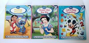 Details about 3 Disney My Interactive Point and & Play a Sound Reader  Interactive Books