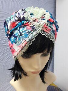 SincèRe Fleur Turban Chapeau Femmes élégant Et élégant Chapeau Turban Multi Couleur Taille S 56 Cm-afficher Le Titre D'origine Fabrication Habile
