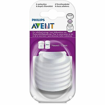 Fits All Avent Cups /& Bottles Avent Sealing Discs x2 For Milk or Storage