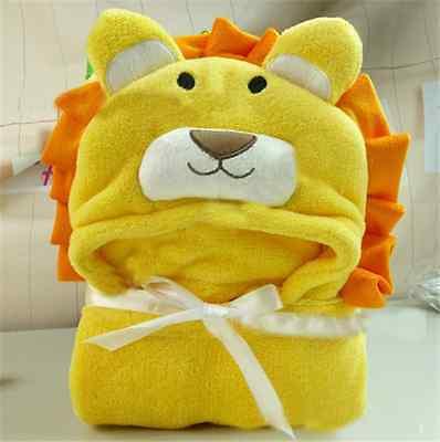 Cute Soft Baby Coral Fleece Bag Blanket Towel Hooded Bathrobe Towel Animal Shape