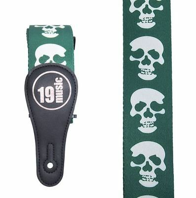 Acoustic Bass Guitar Strap Yellow /& Black UK SKULL Design Polyester Electric