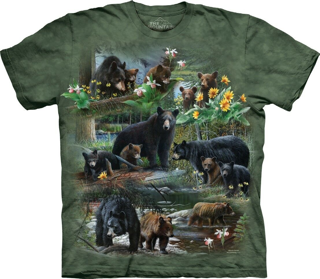 The Mountain Unisex Adult Bear Collage Animal T Shirt