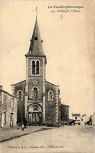 CPA La Vendée Pitt. - Avrille - L'Église (297586)