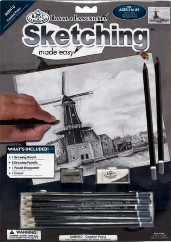 Sketching Made Easy Coastal Point Windmill Board Pencils Royal Langnickel New