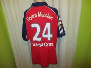 Fc-Bayern-Munich-Adidas-Campeon-Jersey-2000-01-034-OPEL-034-No-24-Santa-Cruz-Gr-XL
