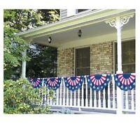 Plastic American Flag Bunting Garland (11 Ft Long) - 226000