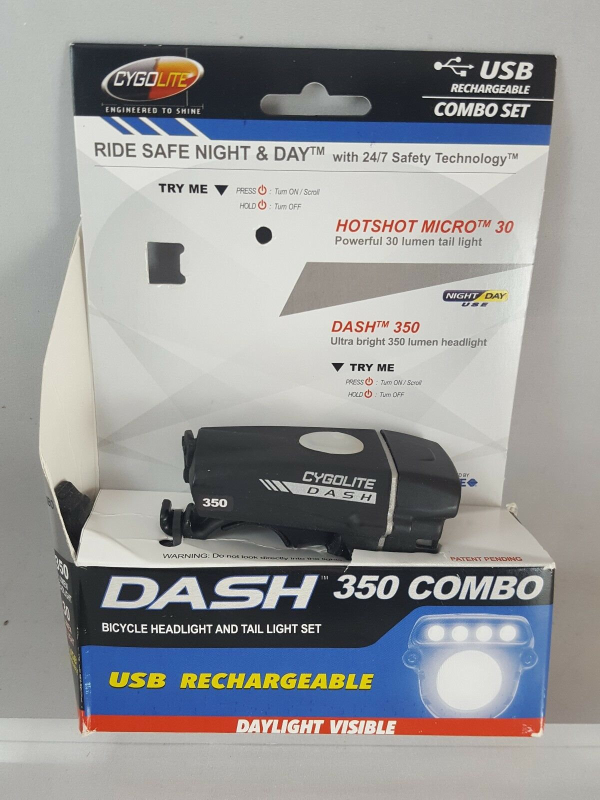 Cygolite Dash 350 Bicycle Headlight  And Mount Rechargeable Front Light ONLY  discount sales
