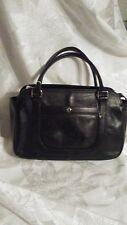 Etienne Aigner Black Leather Handbag/Satchel Possibly Vintage