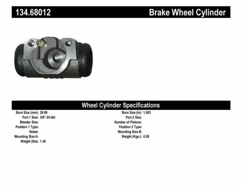 Centric Parts 134.68012 Front Right Wheel Cylinder