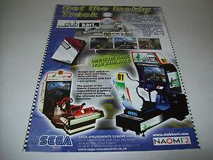 Arcade, Jukeboxes & Pinball Collectibles 1991 Sega Clutch Hitter Video Flyer Mint