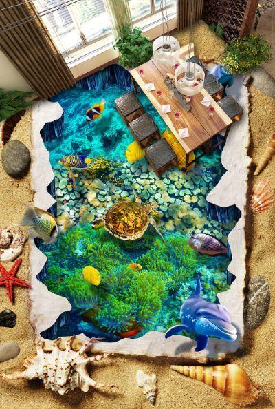 3D Das kristallklare Meer 9 Fototapeten Wandbild Fototapete BildTapete FamilieDE