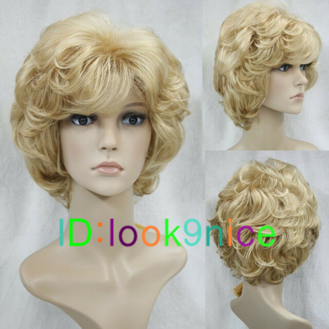 Fashion wig New sexy Women's Short Blonde Hair wigs + Free Wig cap F199