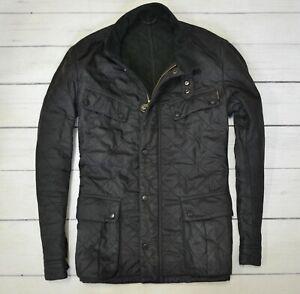 BARBOUR-ARIEL-POLARQUILT-Mens-Jacket-Casual-Outdoor-Quilt-Coat-Black-Size-Large