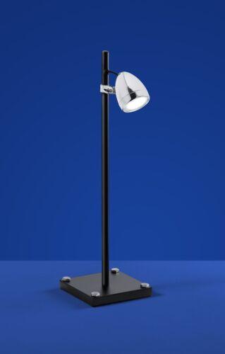 Deutsche DEL Lampe de table Noir Chrome Verre Interrupteur hauteur 53 cm industrie Depot /_ 2