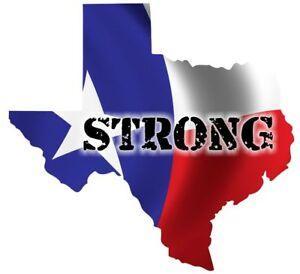 Texas Houston Strong Car Truck Bumper Custom Print Sticker Vinyl - Custom vinyl decals houston