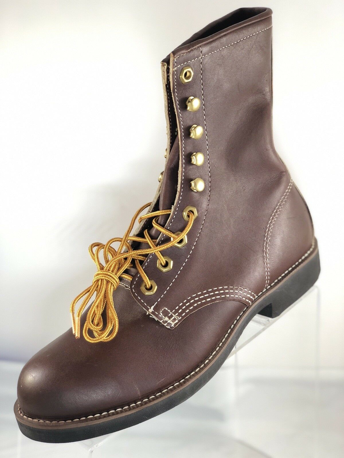 170 Georgia Size 6.5 Lace Up Brown Brown Up Pelle Steel Toe Work Boot Waterproof Shoes cb20fb