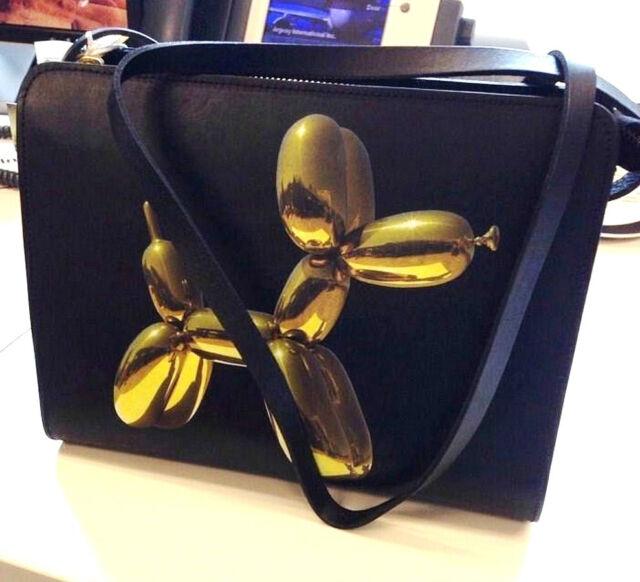 JEFF KOONS x H&M 'Balloon Dog Yellow' Limited Edition Handbag Purse Clutch *NEW*