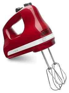 KitchenAid Ultra Power 5-Speed Hand Mixer, Empire Red, KHM512ER