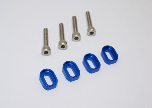 Traxxas X-Maxx 4X4 Upgrade Parts Aluminum Shims /& Stainless Steel Screws Blue