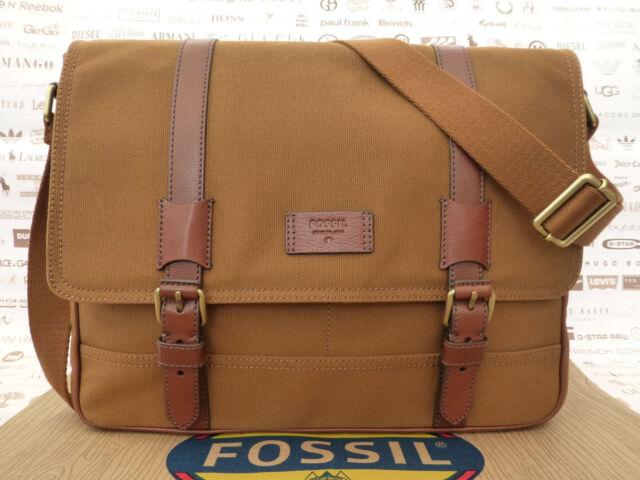 Large Bag Satchel Bags Shoulder Canvas Fossil Messenger Canyon Khaki PqEcpd