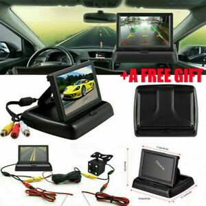 Car-Backup-Camera-Rear-View-System-Waterproof-Foldable-4-3-034-TFT-LCD-Monitor