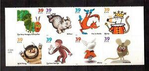 USA-2006-MINT-NH-PANE-OF-8-3987-94-CHILDREN-039-S-BOOK-ANIMALS