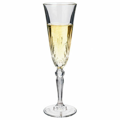 NEW RCR Crystal Melodia Champagne Flute Set 6pce 160ml