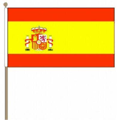 12 Stück Spanien Wappen 9 X 6 Hand Fahnen äSthetisches Aussehen