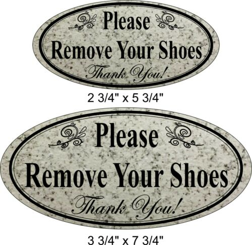 "Laser Engraved /""Please Remove Your Shoes/"" Home Business Door Sign"