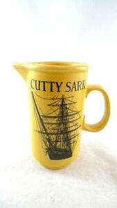 CUTTY-SARK-Mustard-Yellow-Pitcher-7-034-Tall-Scots-Whisky